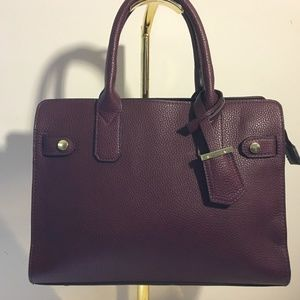 A NEW DAY (Target) Burgundy Faux Leather Satchel